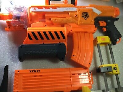 NERF N-Strike Elite Demolisher 2-in-1 Blaster and extras.