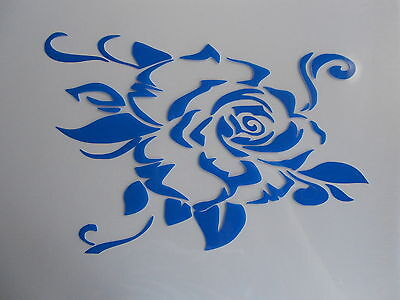 Schablone Stencil gr. Rose für Textil Airbrush Wanddeko u.v.m auf A4
