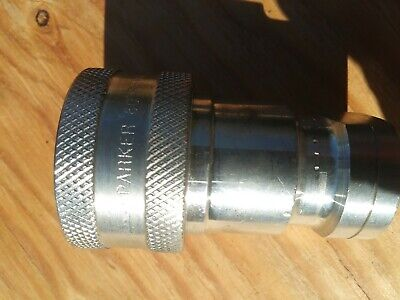 Parker Hydraulic Fittings H4-62 Quick Coupler And H4-63 Nipple Lot