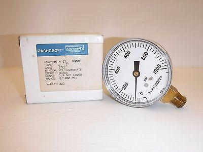 Ashcroft 25w1005h02l Pressure Gauge 1000psi Nib