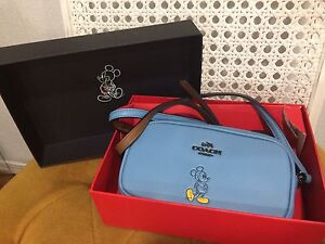Limited edition Coach Mickey Bluejay Calf Leather Sm crossbody