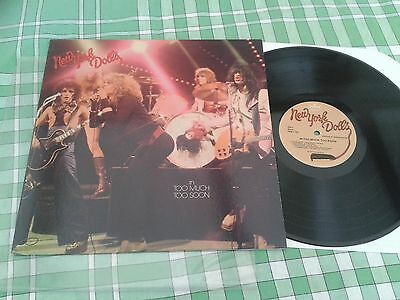 NEW YORK DOLLS - Too Much Too Soon USA Re-issue LP 180g (2008) SRM-1-1001
