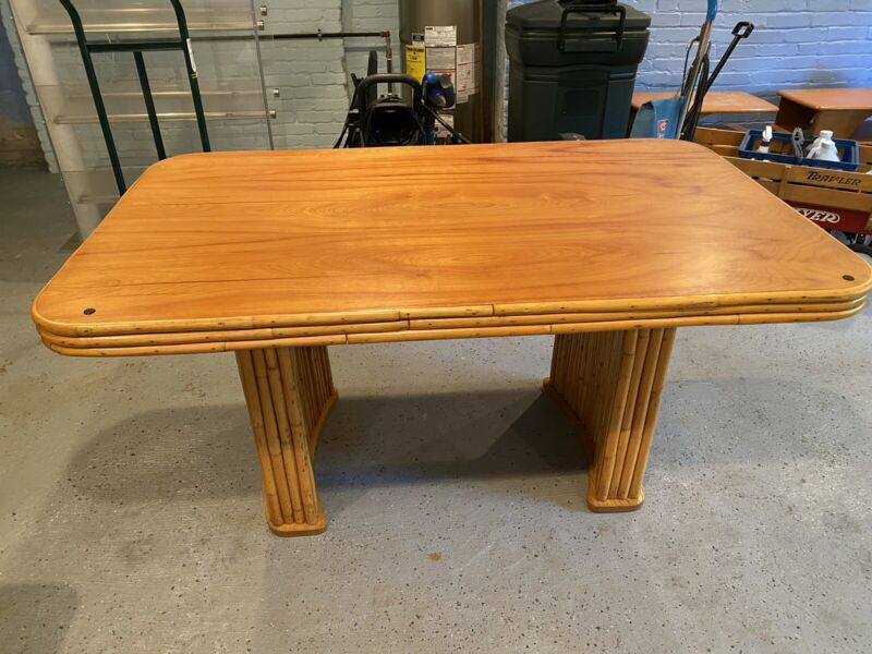 Vintage Rattan Dining Table