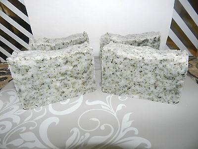 4 lard lye hippie hemp seed soaps with bentonite clay organic peppermint