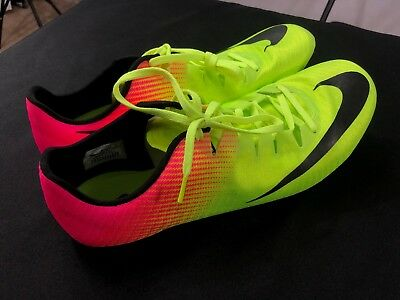 half off 10ba9 2edfc NEW SIZE 13 Nike Superfly Elite Track Spikes Volt Pink Multi-Color 835996- 999