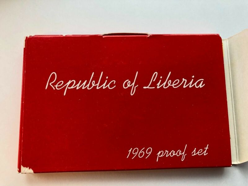 1969 Republic of Liberia Proof 6 Coin Set Original Government Package with COA