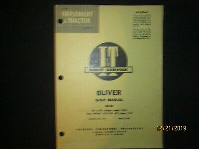 Oliver 770 880 950 990 995 99gmtc Tractor Shop Service Manual Supplement It