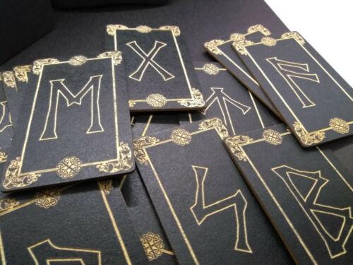 Viking Rune Set, Knotwork Rune set, Elder Futhark Runes, Rune Cards, Rune Deck