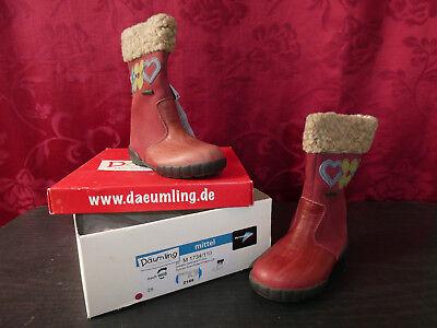 Mädchen in rotbraun, gefüttert, EUGr26 - Sonderangebot (Rote Stiefel Für Mädchen)