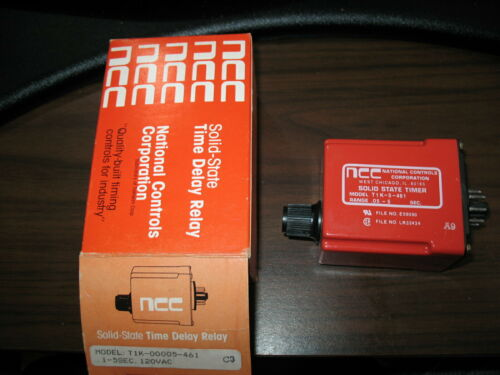 New National Control Corp. T1K-00005-461 Time Delay Relay (120V .05 to 5 Sec.)