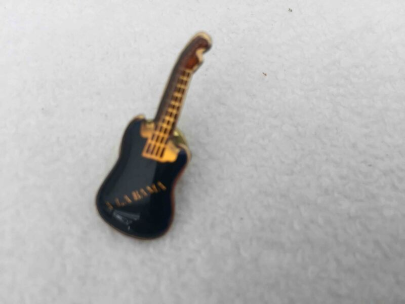 Collectible Vintage ALABAMA Guitar Enameled Hat Lapel Pin   #41