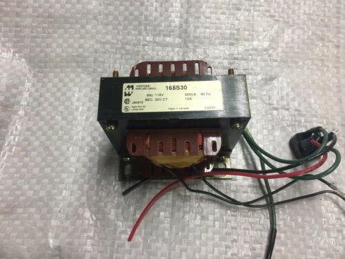 Hammond Control Transformer 165S30 Pri-115 Volts /Sec-30 Volts 300VA 10Amps 60Hz