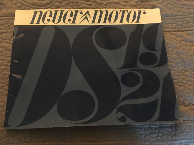 Rare Citroen DS19 & DS21 Dealer Sales Brochure Original Color Glossy Finish