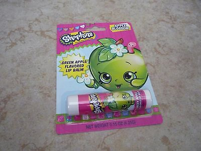 Shopkins Apple Blossom Green Apple Flavored Lip Balm