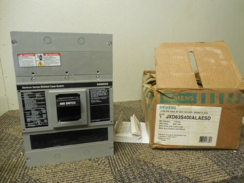Siemens Jxd63s400alaesd Breaker Jxd6 Sw 400a A Amps 3p 600v Volts W/ S11jld62a