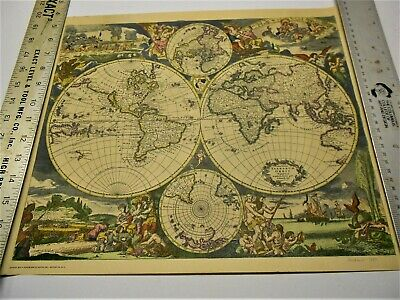 Reproduction 1690  Latin World Map  By Hoffman La Roche M5 Series