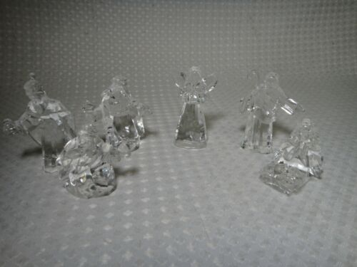 Clear 6 Piece Nativity Set by Roman Inc Christmas Holiday Decoration
