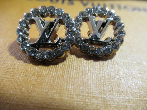 Louis Vuitton LV Buttons 2 BUTTONS 13MM silver tone, rhinestones  THIS IS FOR 2