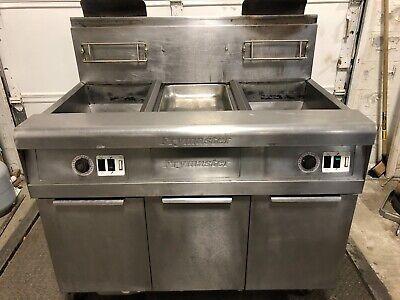 Frymaster Footprint Pro Natural Gas 2 Bay 4 Basket Deep Fryer W Filtration
