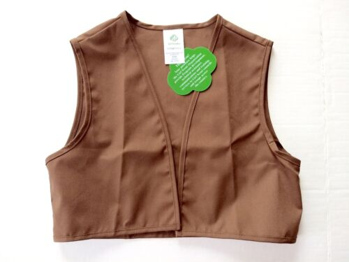 The Official Girl Scout of America Brownie Vest New Small Older Style Brown