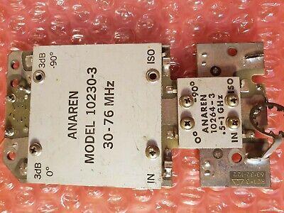 2 Units Anaren 10264-3 Hybrid Coupler 0.5 To 1 Ghz 10230-3 30-76 Mhz On The Boa