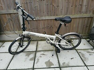 DAHON 4130 CHROMOLY SUPERLIGHT FOLDING BIKE IN WHITE in great used condition