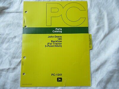 John Deere 1650 Backhoe Parts Catalog Manual Book For 3-point Hitch
