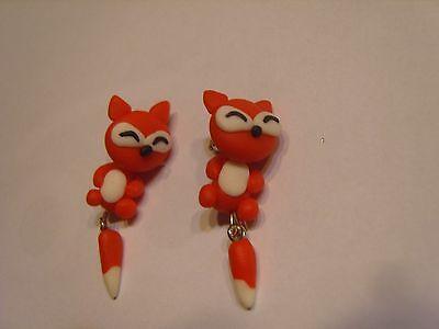 Katze, Schwanz Und Ohren (Ohrringe 3 D bewegliche orange weißen Katze ,Hals und Schwanz beweglich 2210)