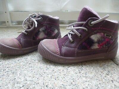 SUPERFIT Mädchen Winterstiefel Sneaker Boots Warmfutter Gr. 25 Lila TOP Zustand