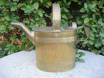Antique  Brass Watering Can  Hot Water Can J Hookham & Son Birmingham 6 222)