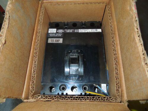 Square D Fal34015-1212 15a 3p 480vac 250vdc W/ Auxiliary Circuit Breaker Surplus