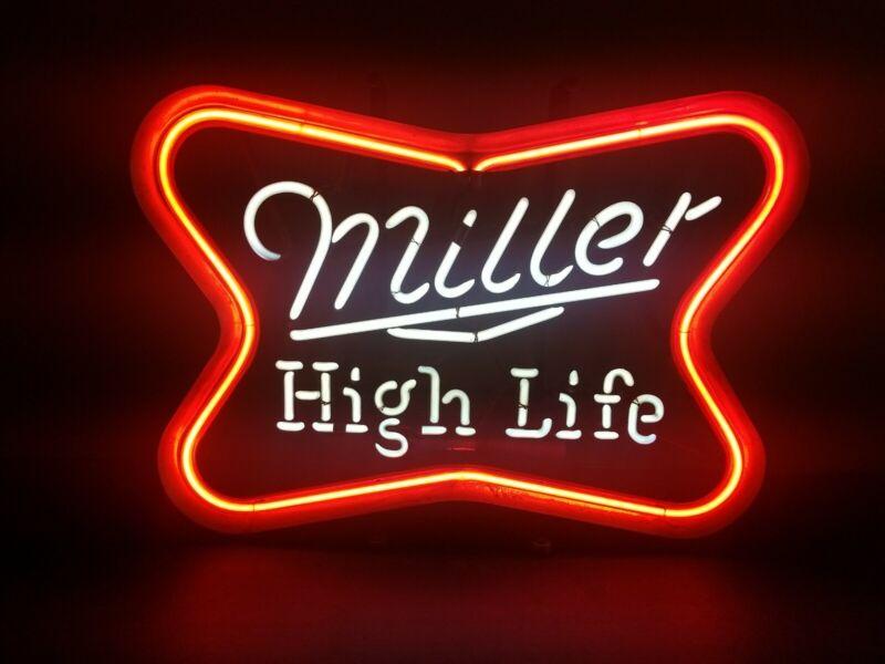 (VTG) 1960s Miller high life beer bar neon light up sign rare style High Life