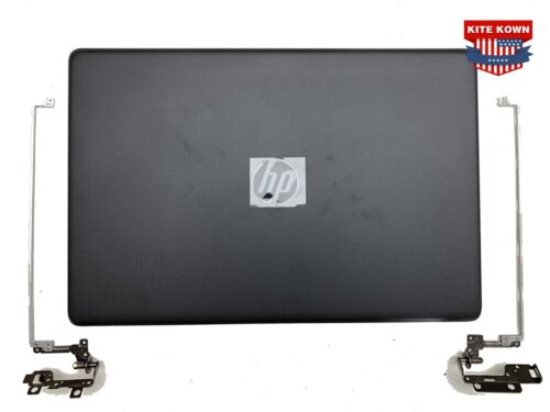 NEW HP 17-BS 17-BS049dx Lcd Back Cover 933298-001 926489-001 + Hinges Black