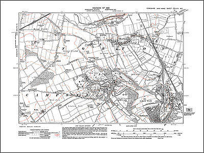 Norton, Campsall, Askern N, old map Yorkshire 1930: 264NE repro
