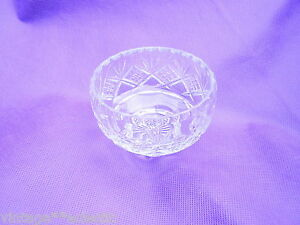 THOMAS WEBB CUT GLASS CRYSTAL BOWL (10cm DIAMETER) ~ EXCELLENT