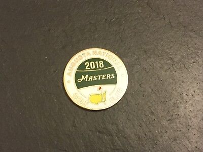 2018 US MASTERS Augusta Logo Golf Ball MARKER New PATRICK REED