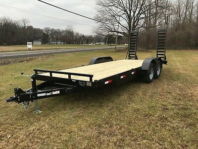 Brand New 82 X 20 12k Gvwr Heavy Equipment Trailer 2020 Year