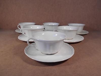 6 tasses à thé + sous tasses Royal Boch Rangoon