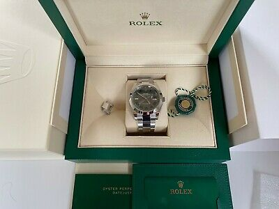 Rolex Datejust 41mm Wimbledon Dial 126300, Unworn 2021, Box and Papers
