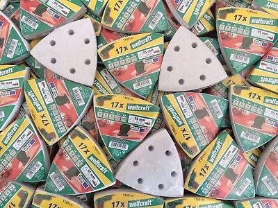 340 Wolfcraft Haft Schleifscheiben 95 mm für Deltaschleifer Schleifpapier Farbe