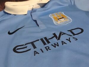 7729ad4b Manchester City home soccer jersey 2015/2016 Sterling #7 kids size L