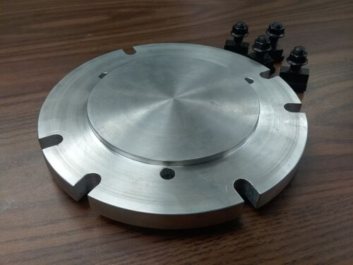 """8"""" base adapter plate mount chucks on rotary table or milling machine #IN-ADP-8"""
