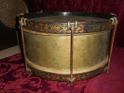 Antique snare drum Prussian snare drum, 1880's-1890's,rod tension snare drum