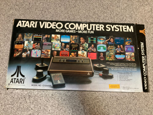 Computer Games - Vintage 1980 Atari Video Computer System BOX and Manuals ONLY - No Console