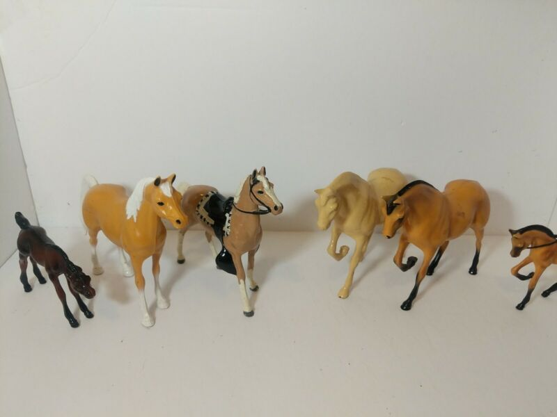 Lot of six Hartland Horses vintage antique toy horses