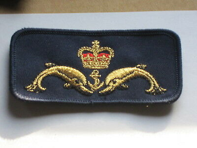 Royal Navy Submarine Badge: Delfine ,Krone & Anker,U Boot Abzeichen,
