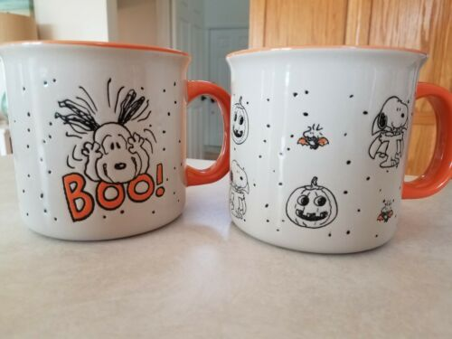 Peanuts snoopy  mug cup halloween fall pumpkin everything be giving woodstock
