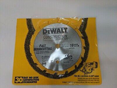 Dewalt 5 38 16 Tooth Cordless Circular Saw Blade Fast Wood Cutting Woodcutting