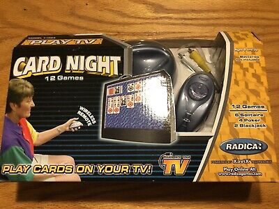 Vintage Unopened Radica Card Night 12 Games XaviX 71063 Video Game Plug And Play