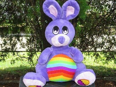 Easter Soft Doll - NEN SUPER SOFT Purple Rainbow Easter Bunny Rabbit Plush Stuffed Doll LOW PRICE